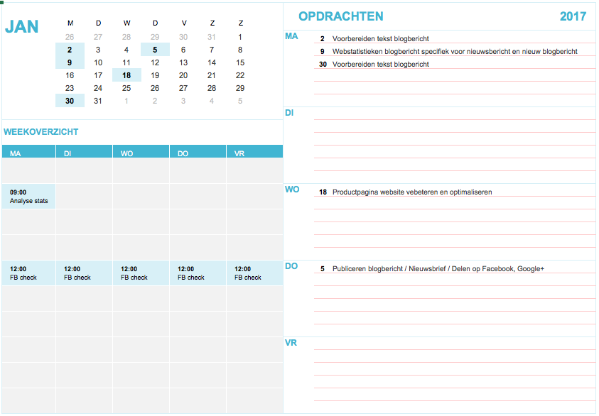 Internet Marketing Kalender 2